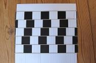 Optische illusie door vlechten van papier