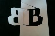 B en B spiegelbeeld