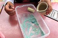 kleur maken water bijvoegen
