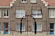 lijnen op overbuur huizen
