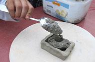 beton in kleivormpjes