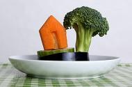 huisje en boom van groente