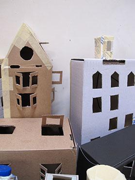 kartonnen huizen