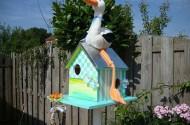 Vogelhuisje met ooievaar