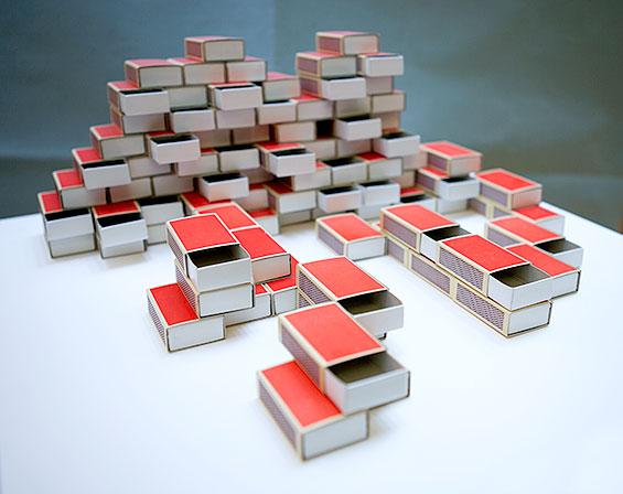 Maquette van luciferdoosjes