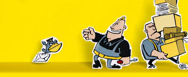 geel portaal met Bouwman en Bouwman